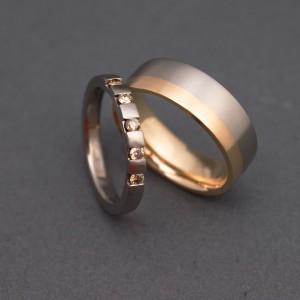 18k guld, titan, diamanter, Klara Eriksson.