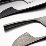 Tobias Birgersson, mönstervällda knivar av stål.