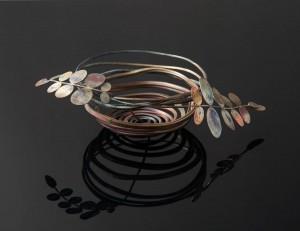 Korg / skål, koppar, av Pernilla Sylwan