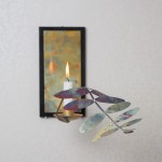 Väggljusstake, koppar, av Pernilla Sylwan