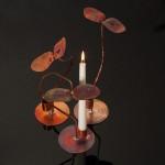 Ljusstakar av koppar. Pernilla Sylwan